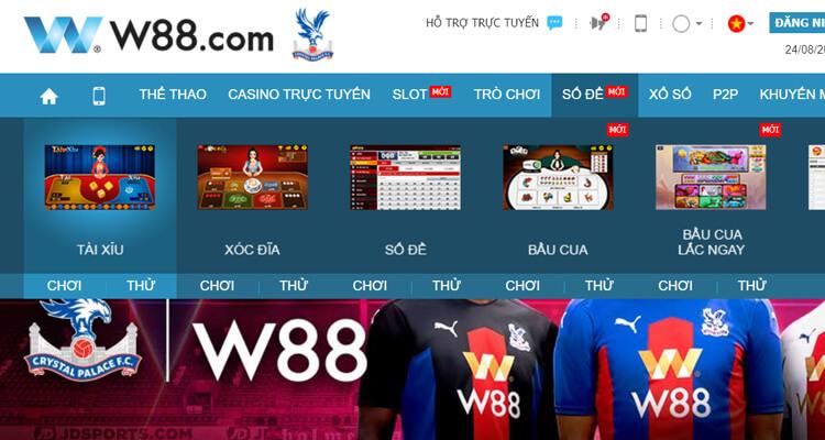 giao diện w88