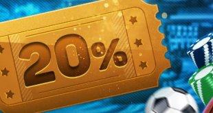 20% tiền thưởng khuyến mãi
