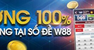 thưởng 100% chào mừng tại số đề W88
