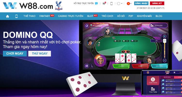 chơi Domino QQ tại W88